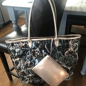Clear Victoria's Secret Beach Tote With Rose Gold